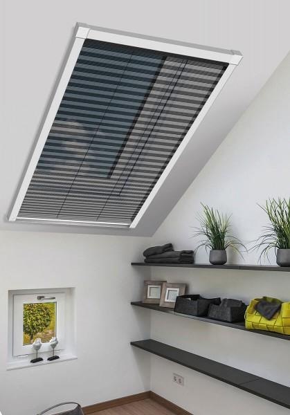 Insektenschutz-Plissee für Dachfenster 114x160cm weiß