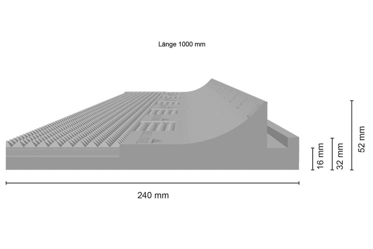 2-teilig mit 13 mm St/ärke 100 x 50 cm 100x50cm//13mm Schellenberg 66280 Rollladenkasten-D/ämmung