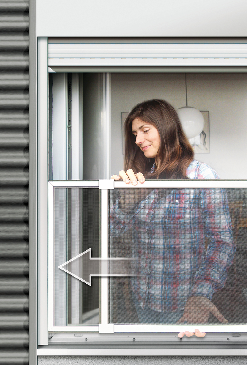 Super Insektenschutz-Schiebe-Fenster 50x75-142cm weiß | Schellenberg-Shop TV24