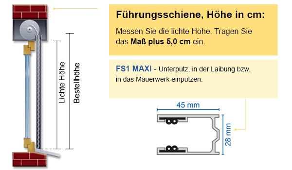 Mini Rolladenpanzer ALU 54,06 EUR//qm Ma/ßanfertigung Wunschma/ß 75cm-200cm Breite x 130cm H/öhe