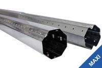 Rolladenwellen-Set bis 1,6 m MAXI Achtkantwelle sw 60
