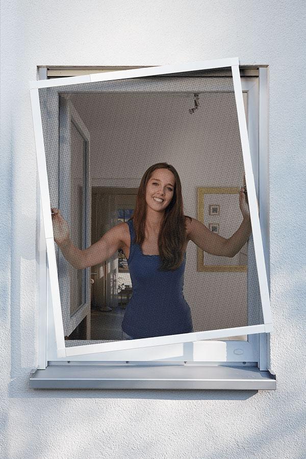 Fliegengitter Basic für Fenster Schellenberg 130x150cm weiß
