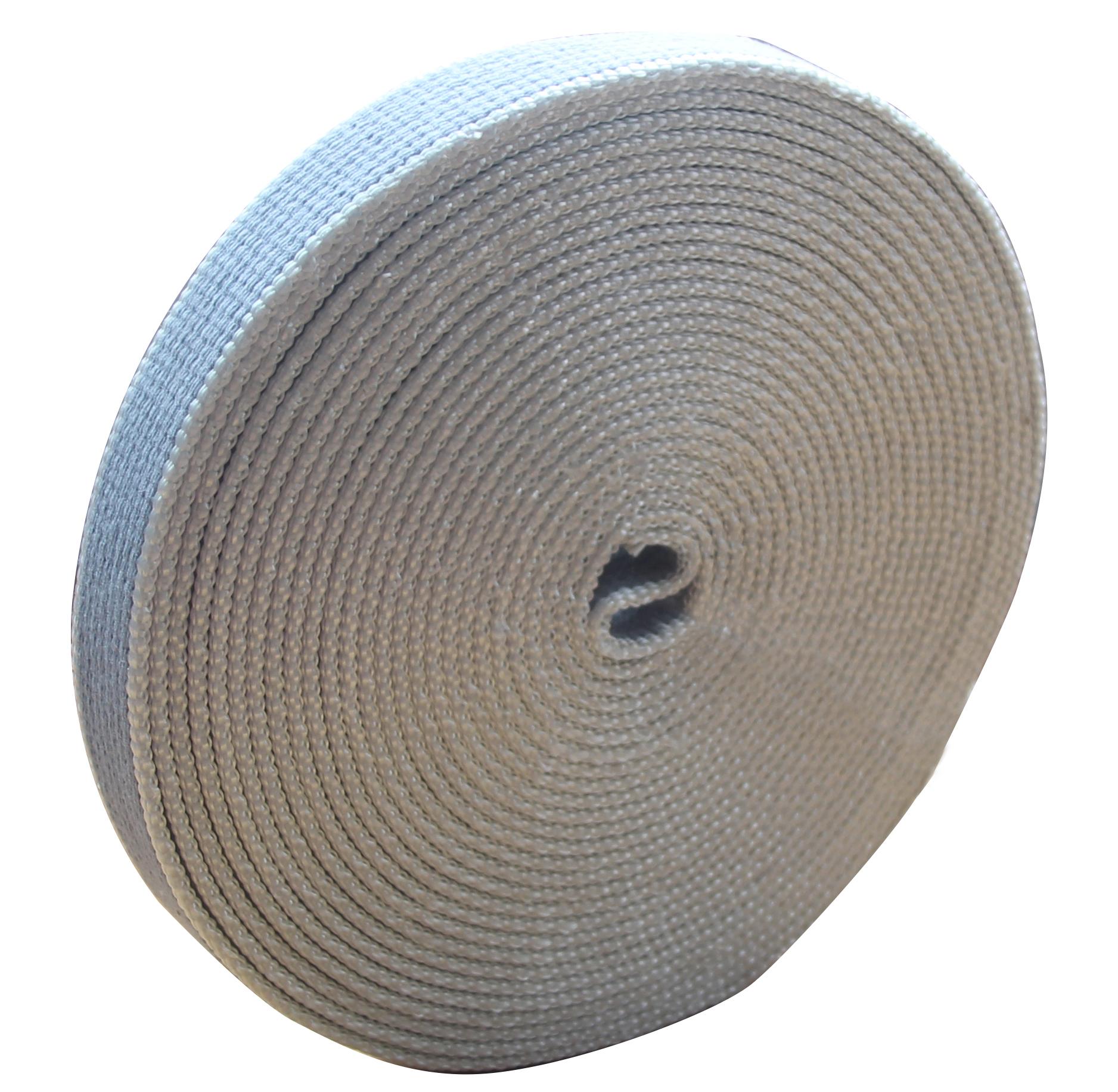 Gurtband Maxi 22mm 7 5m Baumwolle Grau F R Italien