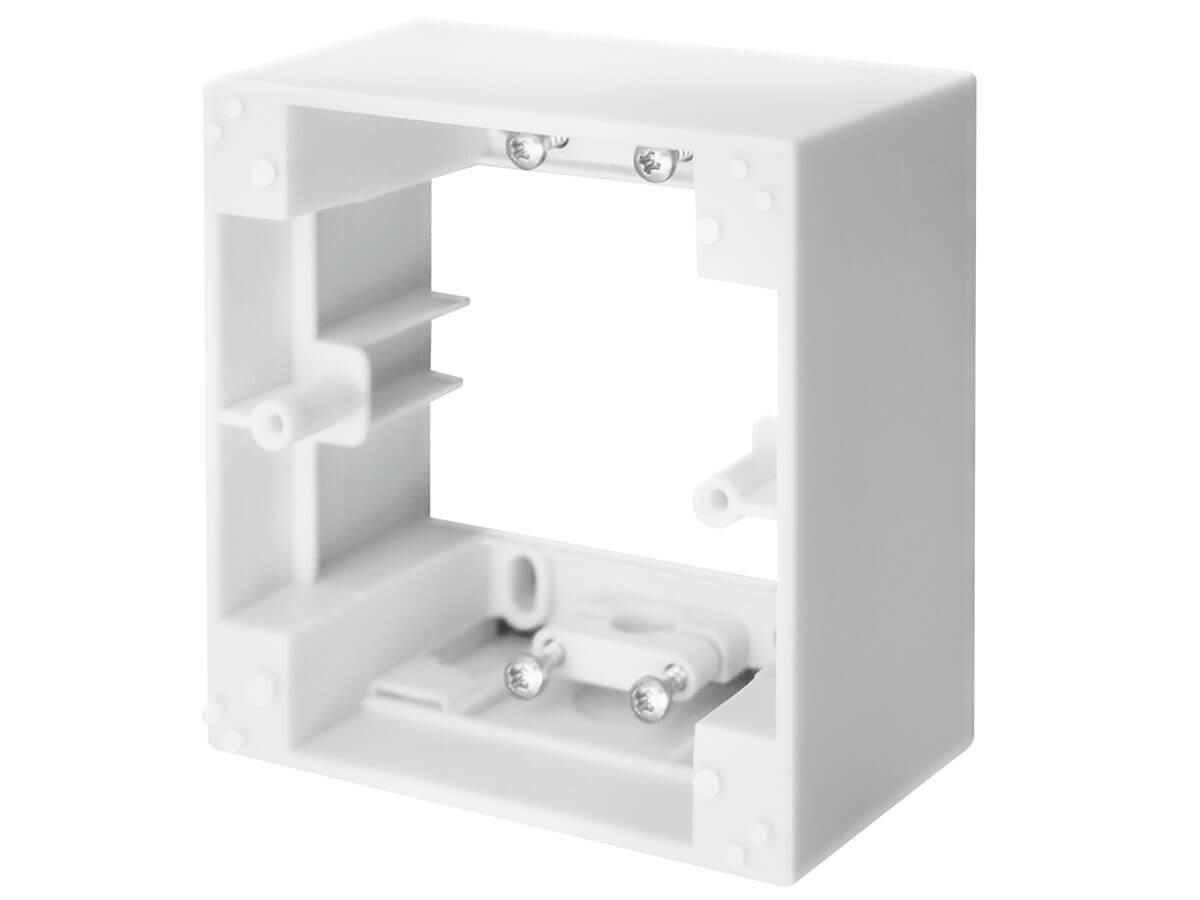 aufputzrahmen 1 fach eckig wei schellenberg shop. Black Bedroom Furniture Sets. Home Design Ideas
